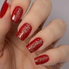 bridal nail art in 9 red shade design