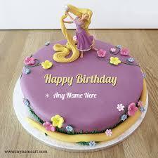 barbie doll birthday cake wishes greeting card