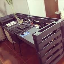 idee de bureau a faire soi meme bureaux en palettes diy conseils bricolage facile