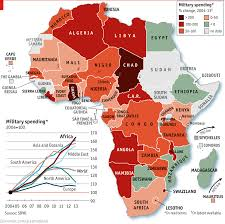 Map Of Africa With Countries Labeled by Top 5 Strongest African Countries