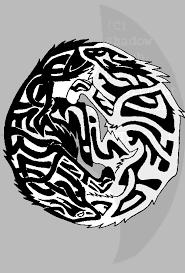 ying yang celtic wolves by nightsvayne on deviantart
