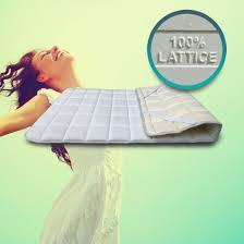 materasso antiallergico supporto topper lattice per migliorare il materasso