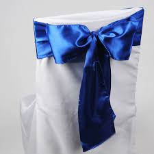 royal blue chair sashes satin chair sash royal blue pack of 10 6 inches x 106