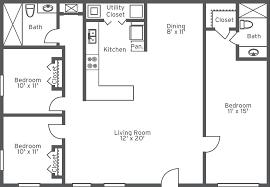 2 Bhk Flat Design by 10 2 Bedroom Flat Floor Plan Two Bedroom House Simple Floor Plans