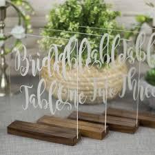 acrylic table numbers wedding wedding table numbers with wood base gourmet wedding gifts