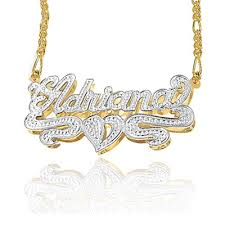 double plated necklace images 24k gold over silver double plate rhodium beaded name necklace gif