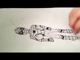 draw spiderman coloring outline