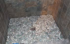 amazing stone shower floor bathroom design ideas with bathroom