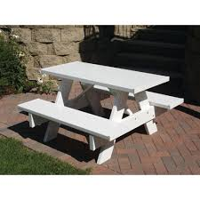 vinyl picnic table and bench covers furniture scenic dura trel ft white vinyl patio kids picnic table