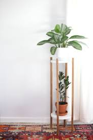 plant stand sleek modern planters from crate barrel indoor plant