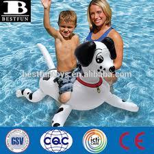 Motorized Pool Chair Promotional Custom Inflatable Dalmatian Dog Pool Rider Kids Dog