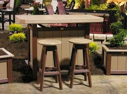Polywood Patio Furniture by This Is A Cool Little Bar Set Built By Amish Woodworkers