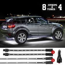 Led Strobe Light Strips by Xkglow Premium 8pc 24in Tubes 4pc 8in Flex Strips Led Underbody