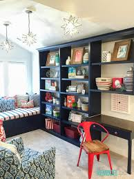 kids homework station remodelaholic get this look colorful playroom loft homework