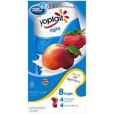 yoplait light yogurt ingredients yoplait light harvest peach strawberry variety pack fat free yogurt