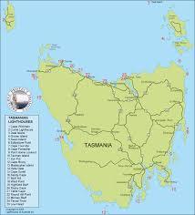 map of tasmania australia lighthouses of australia inc tasmania
