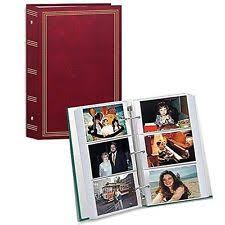 3 ring photo album pocket burgundy 3 ring album for 504 photos 4x6 inch ebay
