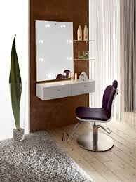 Small Mirrored Vanity Small Wood Wall Mounted Vanity Table With Drawer And Lights Around