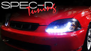 2000 Civic Hatchback Specs Specdtuning Installation Video 1996 1998 Honda Civic R8 Style