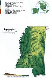 State Map Of Mississippi by Landscape Map Mississippi