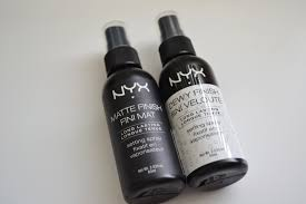 nyx cosmetics makeup setting spray in matte and dewy finish