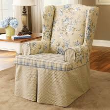 2 Piece Wing Chair Slipcover Wing Chair Slipcovers 2 Piece