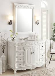 Bathroom Vanities And Mirrors Sets 48 Benton Collection Antique White Florence Vanity Mirror Set