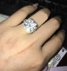 5 engagement ring 5 carat ctw engagement wedding lab grown moissanite ring