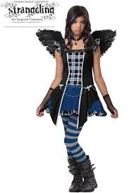 Halloween Costume Tween Girls Strangeling Raven Tween Costume Purecostumes