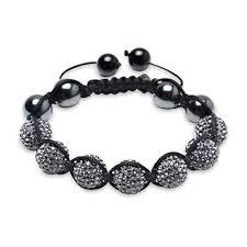crystal shamballa bracelet images Crystal shamballa inspired bracelet hematite beads 12mm jpg