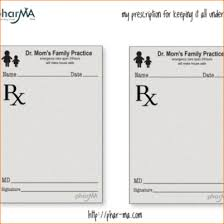 fake prescription template dr moms prescription pad png pay stub