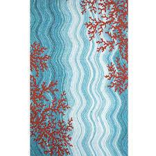 Ebay Outdoor Rugs Remarkable Orange Indoor Outdoor Rug Tropical Runner Rugs Ebay