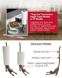 amazon com u201cyoga cat u201d decorative paper towel holder or toilet