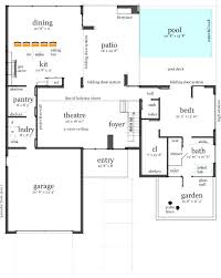 Modern House Design With Floor Plan by House Plans And Design Modern House Plans With Pool Mansion Floor