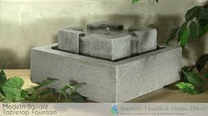 interior design modern square tabletop fountain tp1114 youtube