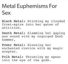 Black Sex Memes - metal euphemisms for sex music memes and images pinterest