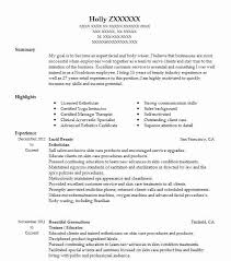 Massage Therapist Job Description Resume by Best Esthetician Resume Example Livecareer