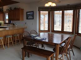 a frame cabin with the comforts of home on farm island lake