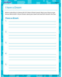 i have a dream u2013 free printable worksheet on martin luther king