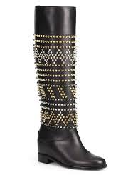czeshop images christian louboutin gold studded shoes