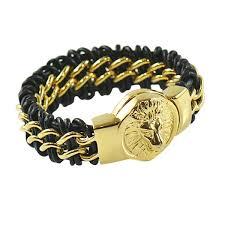 bracelet gold leather man images Luxurious men leather bracelets in modern styles forziani jpg