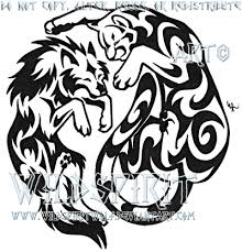 wolf and cougar yinyang tattoo by wildspiritwolf on deviantart