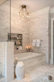 ceramic tile ideas for bathrooms white ceramic tile bathroom with soaker tub home decor and