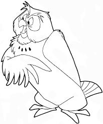 draw owl winnie pooh easy step step