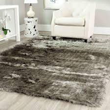 Home Depot Area Carpets Safavieh Paris Shag Silver 6 Ft X 9 Ft Area Rug Sg511 7575 6