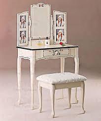 Vanity Set Furniture Hand Painted White Photo Vanity Set Bedroom Vanities