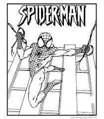 big printable pictures color free printable spiderman coloring