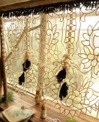 Old Fashioned Lace Curtains by One Of A Kind 45 Wide Antique Lace Window Curtain