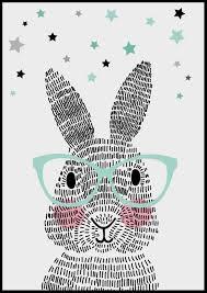 rabbit poster sparkling paper poster mr rabbit dit konijn bestaat niet uit één