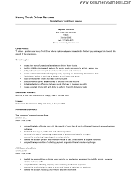 Resume Templates For Truck Drivers Driver Resume Sle Templatetruck Driver Resume Template